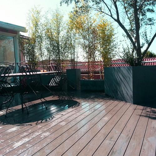 terrasse niveau bois