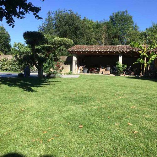 aménagement paysager réalisé à Ségoufielle dans le Gers par la société paysagiste Arboréo